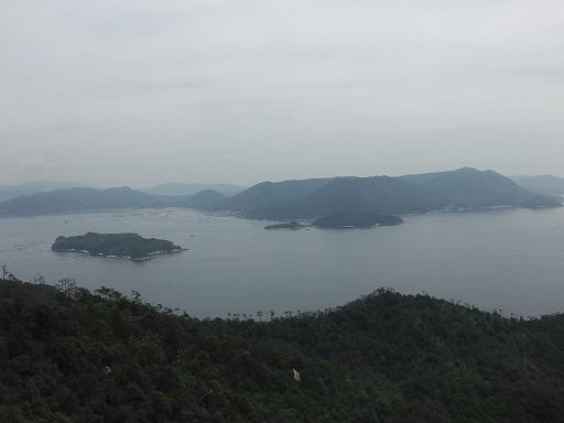 宮島ロープウェイからの景色