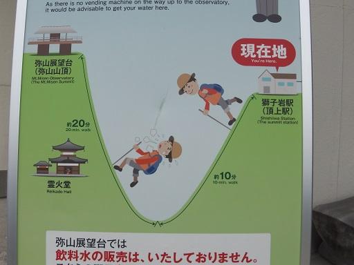 弥山山頂までの道のり