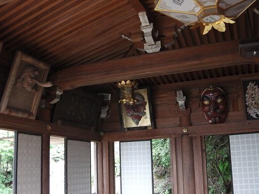 宮島の弥山三鬼堂の内部