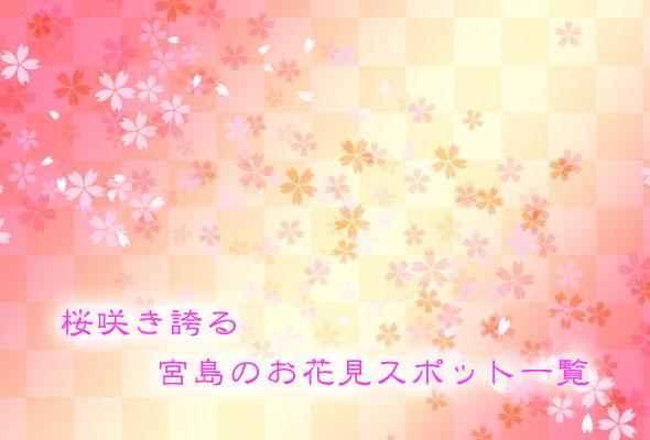 【2020年版】桜が咲き乱れる宮島のお花見穴場スポット一覧!!