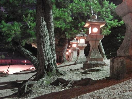 宮島の夜の景色