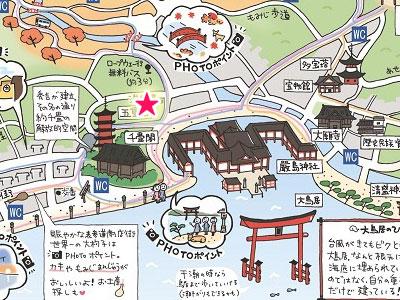 天心閣の地図