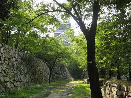 広島城石垣と天守閣