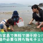 広島の宮島で無料で潮干狩り!!時期や必要な持ち物をチェック!!